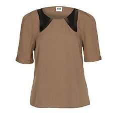 Vero Moda Dark Coral Sheffield Top With Black Mesh Detail Sizes XS - XL