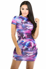 Planets Designs Dress Women Casual Cocktail Party Popular Fashion giti online