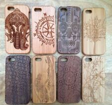 LUXURY CARVED HARD WOODEN PROTECTOR CASE REAL SOLID WOOD COVER APPLE IPHONE 5 5S