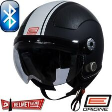 ORIGINE BLUETOOTH MATTE FLAT BLACK WHITE OPEN FACE MOTORCYCLE HELMET DOT XS - XL