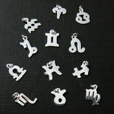 925 Sterling Silver Horoscope Charms-Sterling Silver Zodiac Sign Charm- 2 pieces