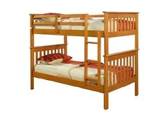 Donco Kids Mission twin over twin pine bunk bed in honey 120-3H. FREE SH