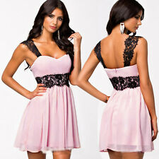 Sexy Women Summer LACE Casual Sleeveless Evening Cocktail Party Short Mini Dress