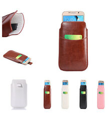NEW Universal PU Leather Smart full View Window Wallet Bag Cover Card Case Pouch
