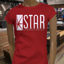 The Flash DC Barry Allen Laboratories Star Labs Womens Red T-Shirt