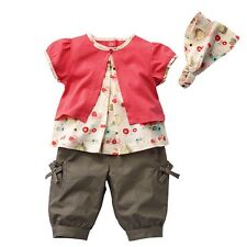 Baby Girls Floral Headbands + Tops + Shorts Clothes Size 0 1 2 Outfits Sets TY4