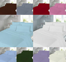 180 Thread Count Hotel Quality Percale Fitted Box Pleated Valance Sheet All Size