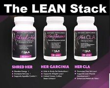 NLA for Her LEAN STACK: CLA, Garcinia, Shred Her Ultimate Fat Burn Stack