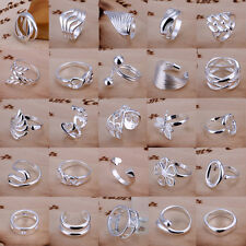Wholesale 925 Sterling Silver Ring Fashion Girls Jewelry US Size 8