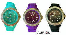 TOP Ladies' Wristwatch Women's Watch Stainless Steel Silicone Full Studds