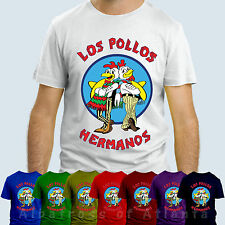 LOS POLLOS HERMANOS  BREAKING BADHEISENBERG WALTER WHITE  T-SHIRT TOP TEE