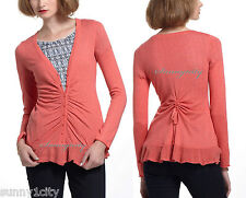 NEW Anthropologie Button-Trail Cardigan By Rosie Neira, Pink Rose color size XS