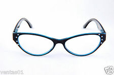 Reading Clear Glasses With Rhinestone Design Lightweight Plastic Frame 8319R