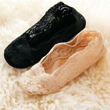 Sexy Women Chic Lace Antiskid Invisible Liner No Show Slippers Peds Low Cut Sock