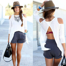 Hot Fashion Women Summer Loose Casual Cotton Sexy Vest Tee Shirt Tops Blouse Top