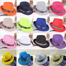 High New Fashion Summer Beach Hat Sun Jazz Panama Gangster Cap Men Women Unisex