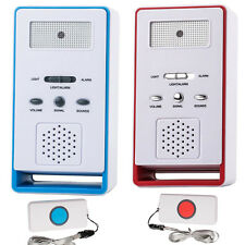 Nursing Call Buttons Alert Wireless Caregiver Personal Pager Home Care LED Alert