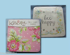 COASTERS PLACE MATS TRAYS & WORKTOP SAVER CONTEMPORARY  RETRO AND SHABBY CHIC