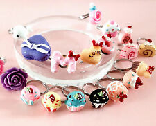Funky Kawaii Smart Candy Dessert Ladies Resin Rings~3D Multi Styles~Teenagers