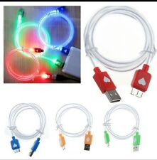 LED  Light Up Glow USB Data Sync Charger  Cable for iPhone  5 5S 6 Plus