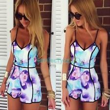 Women Ladies Clubwear V Neck Playsuit Bodycon Party Jumpsuit Romper Trousers Hot