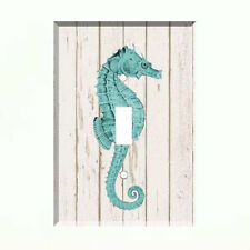 Aqua Seahorse Light Switch Plate Wall Cover Tropical Decor