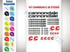 KIT 26 ADESIVI BICI STICKER CANNONDALE BICI CORSA STICKERS MTB CANNONDALE NEW