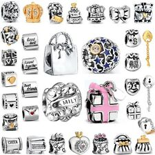 925 Sterling Silver Beads Birthday Party Best Gifts Fit European Charm Bracelets