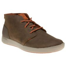 New Mens Merrell Brown Freewheel Chukka Leather Trainers Boots Lace Up