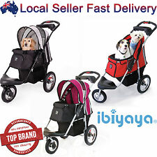 Pet Dog Cat Carrier Travel Foldable Trolley Stroller Pram Push Wheel Cage