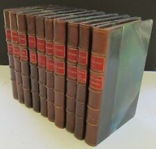 Francois Mauriac. 10 Volumes. Leather bound. In French. Original wraps bound in.