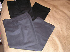 2 EMPORIO ARMANI MEN DRESS PANTS - BLACK AND GRAY COLOR, SIZE 32, MADE IN ITALY
