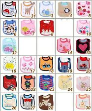 sale Baby Infant Toddler Cotton Bibs 3 Layers Waterproof Cartoon Cute Wholesale