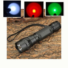 New WF-501B Green/White IR 850nm/IR 940nm  UV 395nm/365nm LED Flashlight Torch