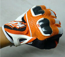 KTM Motorcycle Racetech Motocros Racing Bike Carbon Offroad Fiber Leather Gloves