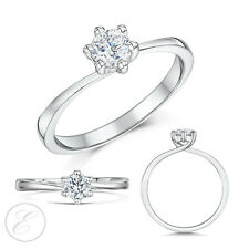 9ct White Gold Diamond Solitaire Engagement Ring 0.25ct 0.33ct 0.50 Carat