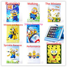 For Apple iPad MINI 1 & 2 Mini 4 Tabelt Silicone Cartoon Minions SpongeBob Case
