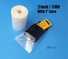 "50 - 200 ft Clear 2"" 3-Mil Poly Tubing for Impulse heat sealer bags Food Grade"