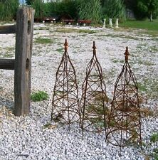 """31"""" Wrought Iron Beehive Topiary w/ Cast Iron Finial - Smallest in this style"""