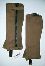 HALF CHAPS HORSE RIDING EQUESTRIAN BROWN AMARA - SMALL, MEDIUM, LARGE and XL