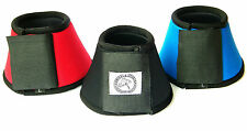 HORSE OVER REACH BELL BOOTS EQUESTRIAN 10MM NEOPRENE 4 COLORS LARGE & COB SIZE 1