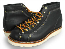 New! Thorogood Men Lace To-Toe Roofer Boots-Black-814-6233