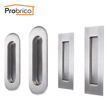 Sliding Door Handle Flush Pull Stainless Steel Rectangular Round Corner Probrico