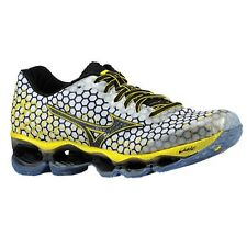 MIZUNO Wave Prophecy 3 Mens Running Shoes White Black Yellow - SZ 8 - 10