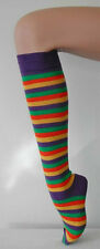 NEW STRIPED SOCKS KNEE HIGH AUS MADE QUALITY FAST FREE POST ROLLER DERBY COSTUME