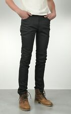 NUDIE JEANS THIN FINN DRY BLACK COATED new without tags