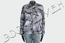 VALENTINO 2590$ Authentic Gray & Black Camouflage Pattern Bomber Down Jacket