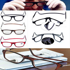 Front Connect Magnetic Reading Glasses Fold Anti-fatigue Hanging Frame Reading