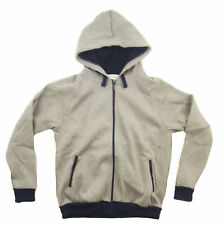 Kooga Mens Grey Marl/Navy Zip Thru Hoody