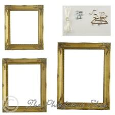 "Antique Gold Shabby & Chic Vintage Picture Frame 7""x5""-30""x20"" RIM ONLY-NO GLASS"
